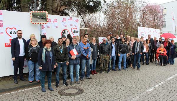 Mitarbeiter der AWO Bonn/Rhein-Sieg gegen Rassismus